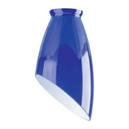 Westinghouse - Westinghouse 6-3/4 in. x 3-3/4 in. Indigo Blue Accessory Shade 8127500 - Shop for Lighting & Fans at The Home Depot. This Westinghouse Lighting 6-3/4 in. x 3-3/4 in. Indigo Blue Accessory Shade boasts a contemporary angled shape and indigo blue glass for a bold design statement. Westinghouse's customizable products inspire creativity for quick and easy home upgrades. Choose your shade, select your fixture and finish, and enjoy your new custom lighting. Because it features a standard 2-1/4 in. fitter, this shade will work with a variety of lighting configurations from mini-pendants to wall fixtures. Install this shade in your bathroom, kitchen, hallway, or bedroom. Wherever you place it, you will enjoy the shade's bright, contemporary design. The shade is 6-3/4 in. high x 3-3/4 in. in diameter. The handcrafted nature of glassware produces minor differences in design and sizing. Subtle variations will occur from piece to piece, adding to each one's unique qualities. Measurements may vary slightly.