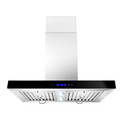 "AKDY - AKDY AK-ZGL9003 Euro Stainless Steel Island Mount Range Hood, 30"" - One of the original stainless steel wall canopy range hoods, AKDY 9003 has become an icon by virtue of its timeless design. Now upgraded with suppression System, 9003 takes range hood detail and performance to higher grounds. outfitted with dual LED light bulbs and electronic controls, 9003 is as relevant today as it was the day we introduced it in 2007."