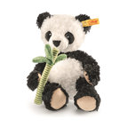 Steiff - Steiff Manschi Panda - Steiff Manschi panda is made of cuddly soft black and white plush. Machine washable.  Ages 3 and up. Handmade by Steiff of Germany.