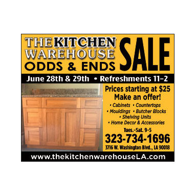 Sales - The Kitchen Warehouse is having a sale on 6/28 and 6/29. Free Refreshments from 11am-2pm.
