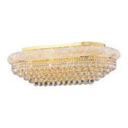 "Worldwide Lighting - Worldwide Lighting W33007G36 Empire 18 Light 36"" Flush Mount Ceiling Fixture in - Specifications:"