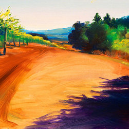 """Ann Rea - Bring home the Russian River Valley with """"Seeping Dusk"""" by Ann Rea, oil painting - This purple shadow crept slowly over the fall landscape."""" -Ann Rea"""
