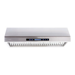 """Atlas International - Cavaliere Euro AP238-PS61 42"""" Under Cabinet Range Hood - Cavaliere Stainless Steel 260W Under Cabinet Range Hood with 4 Speeds, Timer Function, LCD Keypad, Stainless Steel Baffle Filters, and Halogen Lights; Under Cabinet Range Hood; 260W Dual Motor; 4 Speeds with Timer; 900 CFM; Stainless Steel Baffle Filters; Credit Card Sized Remote Control; 260W Dual Motor; 4 Speeds with Timer; 900 CFM; Stainless Steel Baffle Filters; Credit Card Sized Remote Control; Dimensions: 42""""L x 22""""W x 9.8""""H"""