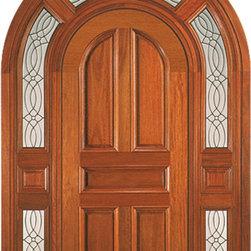 """Round Top Door, Mahogany Prehung Entry System with Wrap Around Transom - SKU#Mansion 1000-ABrandAAWDoor TypeExteriorManufacturer CollectionCarved & MansionDoor ModelDoor MaterialWoodWoodgrainMahoganyVeneerPrice9280Door Size Options36"""" x Height"""" (3'-0"""" x 7'-0"""")  $0Core TypeSolidDoor StyleWrap Around TransomDoor Lite Style6 Lite , Arch LiteDoor Panel Style5 Panel , Arch Top Panel , Raised Panel , Raised MouldingHome Style MatchingMediterranean , Victorian , Old World , Elizabethan , Pueblo , SuburbanDoor ConstructionTrue Stile and RailPrehanging OptionsPrehungPrehung ConfigurationSingle DoorDoor Thickness (Inches)1.75Glass Thickness (Inches)Glass TypeGlass CamingGlass FeaturesGlass StyleGlass TextureGlass ObscurityDoor FeaturesDoor ApprovalsDoor FinishesDoor AccessoriesWeight (lbs)340Crating Size25"""" (w)x 108"""" (l)x 52"""" (h)Lead TimeSlab Doors: 7 daysPrehung:14 daysPrefinished, PreHung:21 daysWarranty1 Year Limited Manufacturer WarrantyHere you can download warranty PDF document."""