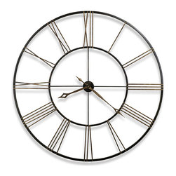 Howard Miller - Howard Miller Postema Gallery Wall Clock - Howard Miller - Wall Clocks - 625406 - This contemporary wall clock is unique with its frame incorporating the dial itself and has an antique style appeal for home or office. Distinguished by its wrought-iron construction, aged black finishing and applied antique numerals, the Postema has a simple yet strong look. Classic hour / minute hands pair with the reliability of battery-operated quartz movement to complete the look and appeal of the Postema Gallery Wall Clock.