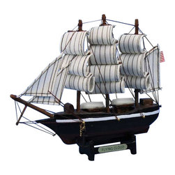 """Handcrafted Model Ships - Flying Cloud 7"""" - Wood Toy Ship Model - Not a model ship kit"""