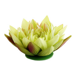 Silk Plants Direct - Silk Plants Direct Floating Water Lily Head (Pack of 12) - Green - Pack of 12. Silk Plants Direct specializes in manufacturing, design and supply of the most life-like, premium quality artificial plants, trees, flowers, arrangements, topiaries and containers for home, office and commercial use. Our Floating Water Lily Head includes the following: