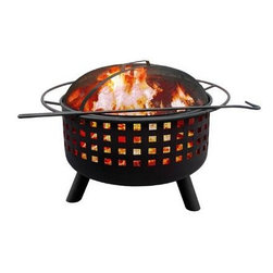 "Landmann - City Limits Memphis Fire Pit G Clay - City Lights Memphis Fire Pit features decorative crosshatch cut outs and a Georgia Clay finish.  Sturdy steel construction is designed for easy assembly.  It has a large 23.5"" diameter bowl with full diameter handle.  Comes with full-size porcelain cooking grate.   Includes poker and Spark guard.  29.5""LX29.5""WX23H 32 lbs. Burn Surface Area: 397 sq in  This item cannot be shipped to APO/FPO addresses. Please accept our apologies."