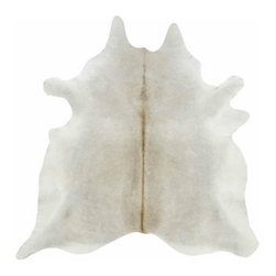 Saddleman's of Santa Fe - Gris Tan Cowhide, X-Large - The Gris Tan Cowhide is the perfect solution for the high-style, high-octane home.  The ruggedness and durability of real leather Brazilian cowhide make this rug virtually indestructible, while the natural gray and tan tones make it unforgettable.  A natural cowhide, this amply proportioned rug will anchor a seating arrangement in the living room, or lend softness to a bedroom.  Choose from large or extra large sizes.  It's irregular shape is an excellent solution for an odd-shaped space, or for offering a visual break to clean lines of a modern design.  Cowhides are great for homes with kids and pets, or for frequent entertaining where spills might otherwise be a challenge.  Just wipe clean with a damp cloth as needed, and vacuum or shake out like a regular rug.  Enjoy the low maintenance and enduring style of the Gris Tan Cowhide.