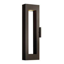"""Hinkley Lighting - Hinkley Lighting 1644-LED 24"""" Height Dark Sky LED Outdoor Wall Sconce - 24"""" Height LED Dark Sky Outdoor Wall Sconce with Rectangular Shade from the Atlantis CollectionFeatures:"""