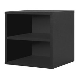 Foremost - Modular Shelf Cube Black - Our shelf cube is elegant in its simplicity and provides flexible functionality. Divided horizontally by a shelf, the cube is perfect for storing magazines or books. Unlimited combination options so you can create exactly the system you need.