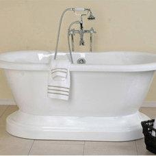 Randolph Morris Acrylic Pedestal Tub RMA60DE0W8PW White