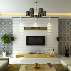 Asian Living Room by Xllence Interior