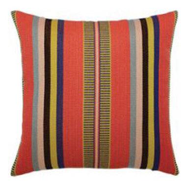 """New Elaine Smith Pillows - Machu Picchu Poncho Stripe - 17"""" x 17"""" Elaine Smith Pillows"""