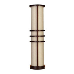 Aspire - Joss Modern Floor Lamp - This great looking modern floor lamp features a wood frame in cherry finish and a beige cylinder fabric shade. At 3 feet high, this lamp can also be used as a table lamp if you prefer. A great option if you need a modern style lamp to complete your space. Wood. Color/Finish: Cherry, beige. UL listed. Uses 60 watt max bulb. 36 in. H x 7 in. W x 7 in. D. Weight: 7 lbs.