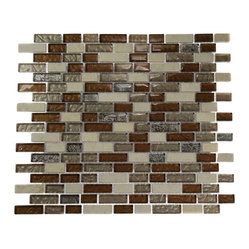 Brick Pattern Leather Boot Brown Blend Random Marble & Glass T