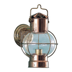 Shiplights - Bracket Globe Light by Shiplights, Unlacquered Brass & Copper Combo - Our Bracket Globe Light is made of solid brass and can be used indoors or outdoors in a wide variety of applications.