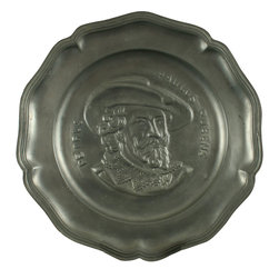 EuroLux Home - Consigned Vintage French Pewter Plate Peter Paul - Product Details