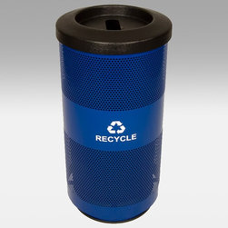 Witt Industries - Witt Industries Stadium Slot Opening 20 Gallon Blue Recycling Bin - SC20-01-RP-B - Shop for Trash Receptacles from Hayneedle.com! Promote recycling by placing the Witt Industries Stadium Slot Opening 20-Gallon Blue Recycling Bin next to a copier scanner or wherever a lot of paper is used. Its slim and durable design ensures that this bin will fit almost anywhere while the classic blue color is unobtrusive and looks great in any spot. The slot opening and decals clearly mark this bin as a container for paper and helps to keep unwanted items out. The recycling bin has a 20-gallon capacity and measures 15.5W x 31.5H inches.About Witt IndustriesWith its rich and established history in the steel waste receptacle manufacturing industry that dates back to 1887 Witt Industries has been in the forefront with its innovation quality and service. The company's founder George Witt invented and patented the first corrugated galvanized ash can and lid back in 1889 and the company has never looked back. Today Witt Industries is part of the Armor Metal Group and is a woman-owned business.