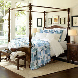 None - Calypso Quilt Set - This charming quilt set showcases an ocean blue and white pattern with bound white lace and ruffled trim accents. This quilt is pre-washed and pre-shrunk.