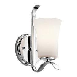 Kichler Lighting - Kichler Lighting 45374CH Armida Chrome Wall Sconce - Kichler Lighting 45374CH Armida Chrome Wall Sconce