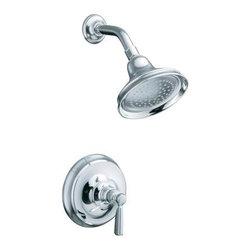 KOHLER - KOHLER K-T10583-4-BV Bancroft Rite-Temp Pressure-Balancing Shower Faucet Trim - KOHLER K-T10583-4-BV Bancroft Rite-Temp Pressure-Balancing Shower Faucet Trim with Metal Lever Handle, Valve Not Included in Brushed Bronze