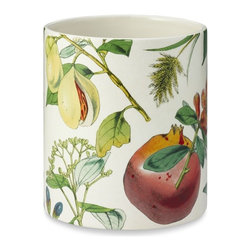 Botanical Utensil Holder - This botanical printed canister would be great for holding kitchen utensils.