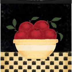 Appliance Art - Appliance Art Apple Bowl Dishwasher Cover - Turn your dishwasher from a boring appliance into a work of art, with this magnetic dishwasher cover featuring a cheerful apple bowl theme. Easily trimmed to any size, this cover cleans easily and includes adhesive strips for alternative mounting.