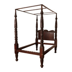 Very Fine Four Poster American Empire Bed, Philadelphia c. 1825 - The HighBoy, BonninAshley Antiques