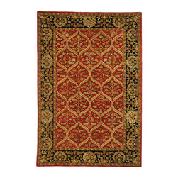 Safavieh - Safavieh Anatolia Small Rug in Red, Black, Green, 2'x3' - Anatolia Collection Brings Old World Sophistication and Quality in New Tufted Rugs. This Collection Captures the Authentic Look and Feel of the Decorative Rugs Made in the Late 19Th Century in This Region. Hand Spun Wool and an Ancient Pot Dying Technique Together with a Densely Woven Thick Pile, Gives Anatolia Rugs Their Authentic Finish. What's included: Area Rug (1).