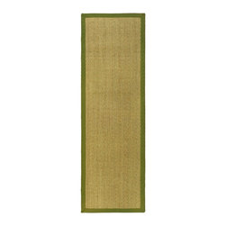"""Safavieh - Contemporary Natural Fiber Hallway Runner 2'6""""x12' Runner Natural - Olive Area R - The Natural Fiber area rug Collection offers an affordable assortment of Contemporary stylings. Natural Fiber features a blend of natural Natural - Olive color. Machine Made of Sisal/Sea Grass the Natural Fiber Collection is an intriguing compliment to any decor."""
