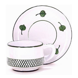 Artistica - Hand Made in Italy - GIARDINO: Cup and Saucer Set - GIARDINO Collection: The Giardino (Garden) collection, is an exclusive product from Deruta of Italy.