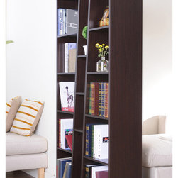 Furniture of America - Furniture of America Black Ten-shelf Bookcase - Display books or treasured items on this abstract bookshelf for a stylish look that is sure to complement any room decor. There are numerous shelves on the bookcase, making it easy to organize items in a beautiful and eye-catching way.