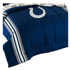 The Northwest Company - NFL Indianapolis Colts Football Twin-Full Bed Comforter Set - Features: