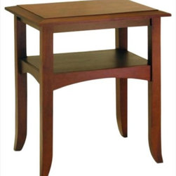 "Winsome - ""Winsome Wood End Table, Antique Walnut"" - ""Slightly crafted with flare-tip legs and traditionally profiled trim. Warmth walnut finish. Single shelf offers the nice spot to display decor items. Match with Hall Table & Coffee table for collection.Dimensions (W x L x H): 22.4"""" x 17.3"""" x 25.9""""Weight: 21 lbs.Constructed of PinewoodOccasion table feature an antique walnut finishMatching end table, coffee table and hall table.Assembly Required"""