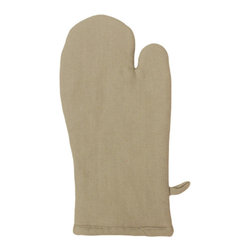 Bambeco Tiburon Organic Mitt in Taupe - Bring a little eco-chic into the everyday with our Tiburon Organic Oven Mitt. Woven in a classic herringbone design from 100% organic cotton, this oven mitt is crafted via sustainable textile production methods and colored with environmentally friendly, water-based dyes. Big enough for all hand sizes with a hang loop for convenient storage, it's padded for your safety with a lavishly smooth quilted interior.Available colors: Charcoal and Taupe.Dimensions: 6.5 x 12.5