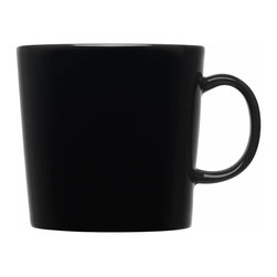Iittala - Teema Mug, Black, Large - Pick your favorite color and fill your mug with the beverage of your choice. Whether it's coffee or tea, you'll love starting your morning with these modern ceramic mugs. When you're fully caffeinated, simply place them in the dishwasher for easy cleanup.