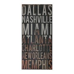 Sterling Industries - Sterling Industries 51-10116 American Cities 3-American Cities Wall D�cor - Wall Panel (1)
