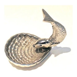 Zhush - Silver Fish Ring Holder - Let this charming little silver fish stand guard over your favorite rings and earrings. Makes a great gift!