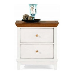"""American Drew 181-420WM Drawer Night Stand - White w/ Maple Top Sterling Pointe - Drawer Night Stand - White w/ Maple Top - American Drew Sterling Pointe Collection 181-420WMFeatures:2 DrawersThis Price Includes:Drawer Night Stand - White w/ Maple TopItem:Weight:Dimensions:Drawer Night Stand - White w/ Maple Top66 lbs26"""" W X 17"""" D X 28"""" HManufacturer's Materials:Maple and Hardwood SolidsMaple & Poplar Veneers & Simulated Wood Components"""