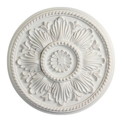 uDecor - MD-5331 Ceiling Medallion - Ceiling medallions and domes are manufactured with a dense architectural polyurethane compound (not Styrofoam) that allows it to be semi-flexible and 100% waterproof. This material is delivered pre-primed for paint. It is installed with architectural adhesive and/or finish nails. It can also be finished with caulk, spackle and your choice of paint, just like wood or MDF. A major advantage of polyurethane is that it will not expand, constrict or warp over time with changes in temperature or humidity. It's safe to install in rooms with the presence of moisture like bathrooms and kitchens. This product will not encourage the growth of mold or mildew, and it will never rot.