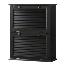 Home Decorators Collection - Shutter Recycle Bin - Two convenient compartments with tilt-out doors make it easy to be environmentally friendly. Plus, each tilt-out door is louvered and has a metal handle. Our Shutter Recycle Bin will blend easily into your existing kitchen decor. Includes two louvered tilt-out doors. Includes metal handles for opening.