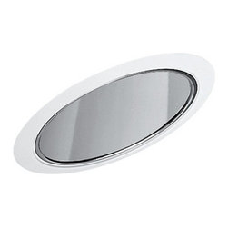 Juno Lighting Group - White Alzak Reflector Cone for Standard Slope Housing - 612W-WH - This recessed lighting trim is designed for sloped housing. Features a white Alzak� reflector cone combined with white trim. Measures 7-5/8 inches wide and has a 6-inch aperture. Dry location rated.