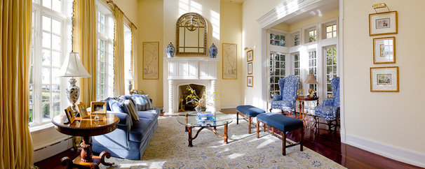 Traditional Living Room by Jason Joseph Photography