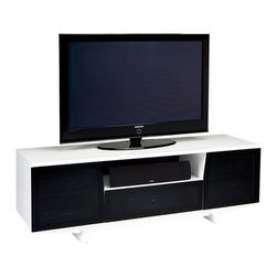 BDI - BDI Marina Home Theater System with Freestanding, Gloss White - The BDI Marina Home Theater System has a chic and modern look to compliment its utility. Equipped to house a media screen up to 70 inches, it also has wire management, adjustable shelves, hidden wheels, and ventilation.