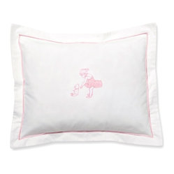 Jacaranda Living - Baby Boudoir Pillow Cover, Ballerina and Teddy, pink - Do you know a little girl who wants to be a ballerina? Get her this little pillow cover so she can have her teddy and her dreams in one place.