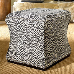 """Hammary - Hidden Treasures Fabric Storage Cube - Hammary's Hidden Treasures collection is a fine assortment of unique accent pieces inspired by some of the greatest designs the world over. Each selection is rich in Old World icons and traditions. Every piece in this collection is crafted with the upmost attention to fine details. Each item is a work of art from brass nailhead trim and exquisite hand-painting to elegant shaping and decorative trim. Wide varieties of materials are used to create a perfect look and fine quality which includes exotic woods, leather, and stone to raffia and glass. The wide variety of finishes, hardware, beautiful carvings and other final touches offer unmatched versatility for any room in your home. Hidden Treasures features cocktail tables, occasional and accent pieces, trunks, chests, consoles, wine racks, desks, entertainment units and interesting storage pieces. Place one in a comfortable reading nook. . . in the family room for flair and variety. . . in the foyer for a welcome look. . . in a bedroom for a cozy style. . . or in the office for function and versatility. The pieces in this collection mix beautifully with any decorating style and will easily become the focal point in any setting.; Hidden Treasures Collection; Finish:; Zebra print fabric; Removeable lid; Polished nickel nail head trim; Fabric lined interior; Weight: 1 lbs.; Dimensions: 18""""W x 18""""D x 18""""H"""
