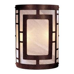 Minka-Lavery - Minka-Lavery 2-Light Wall Sconce - 346-14 - This 2-Light Wall Light has a Brown Finish. It is ADA Compliant.