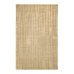 Surya - Surya Shibui SH-7402 (Tan Burgundy) 2' x 3' Rug - Julie Cohn is an artist, designer and the developer of products and designs for the corporate and home interiors markets. She is a founding partner in the multidisciplinary product firm, Two Women Boxing and surface design firm Julie Cohn Design. Formed in 1998, Julie Cohn Design focused on surface design for china and glass, carpets, rugs, wall covering, and other home accessories. Hospitality and design firms have enlisted her talents for large hotel projects for Ritz, Hyatt, Hilton and others. This Tibetan weave collection, Shibui, is rich, elegant, and urbane. Masterfully mixing wool with silk, the details and finesse are exquisite.