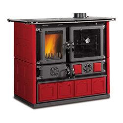 La Nordica Wood Cooking / Cook Stove - Rosa Maiolica Red -